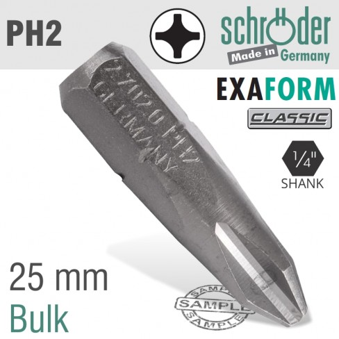 PH2 EXAFORM CLASSIC INSERT BIT 25MM BULK