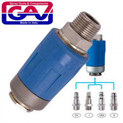 SAFETY QUICK COUPLER 3/8 M TWO STAGE RELEASE