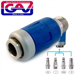 SAFETY QUICK COUPLER 1/2 M TWO STAGE RELEASE