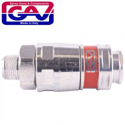 AIRBLOCK SECURITY MAGNUM COUPLER 3/8'MALE TWO STAGE RELEASE SAFTEY