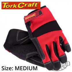 WORK GLOVE MEDIUM-ALL PURPOSE RED WITH TOUCH FINGER