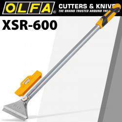 OLFA HEAVY DUTY SCRAPER 600MM WITH 0.8MM BLADE AND SAFETY BLADE COVER